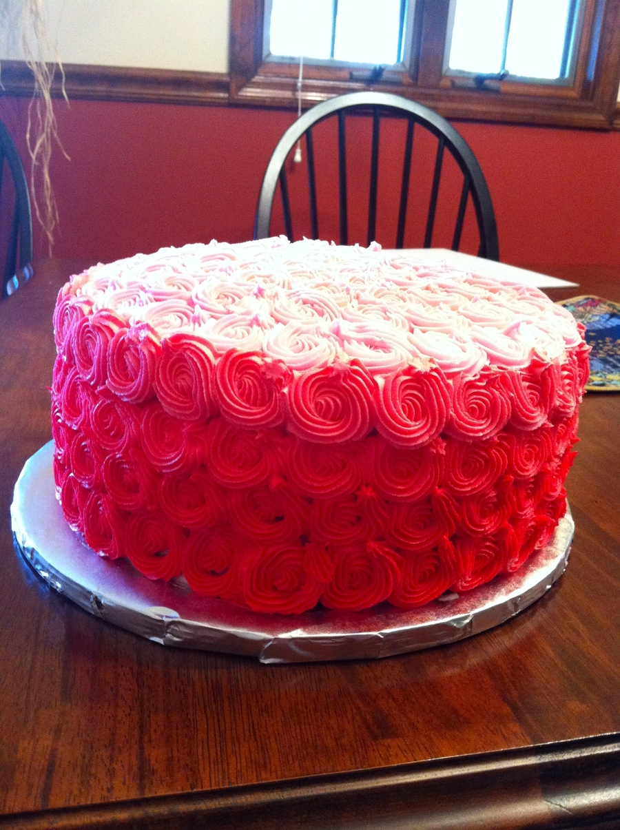 Pink Birthday Cake on Cake Central
