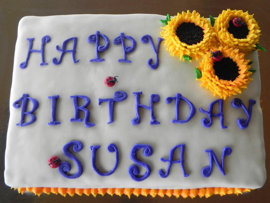 Happy Birthday Susan Cake