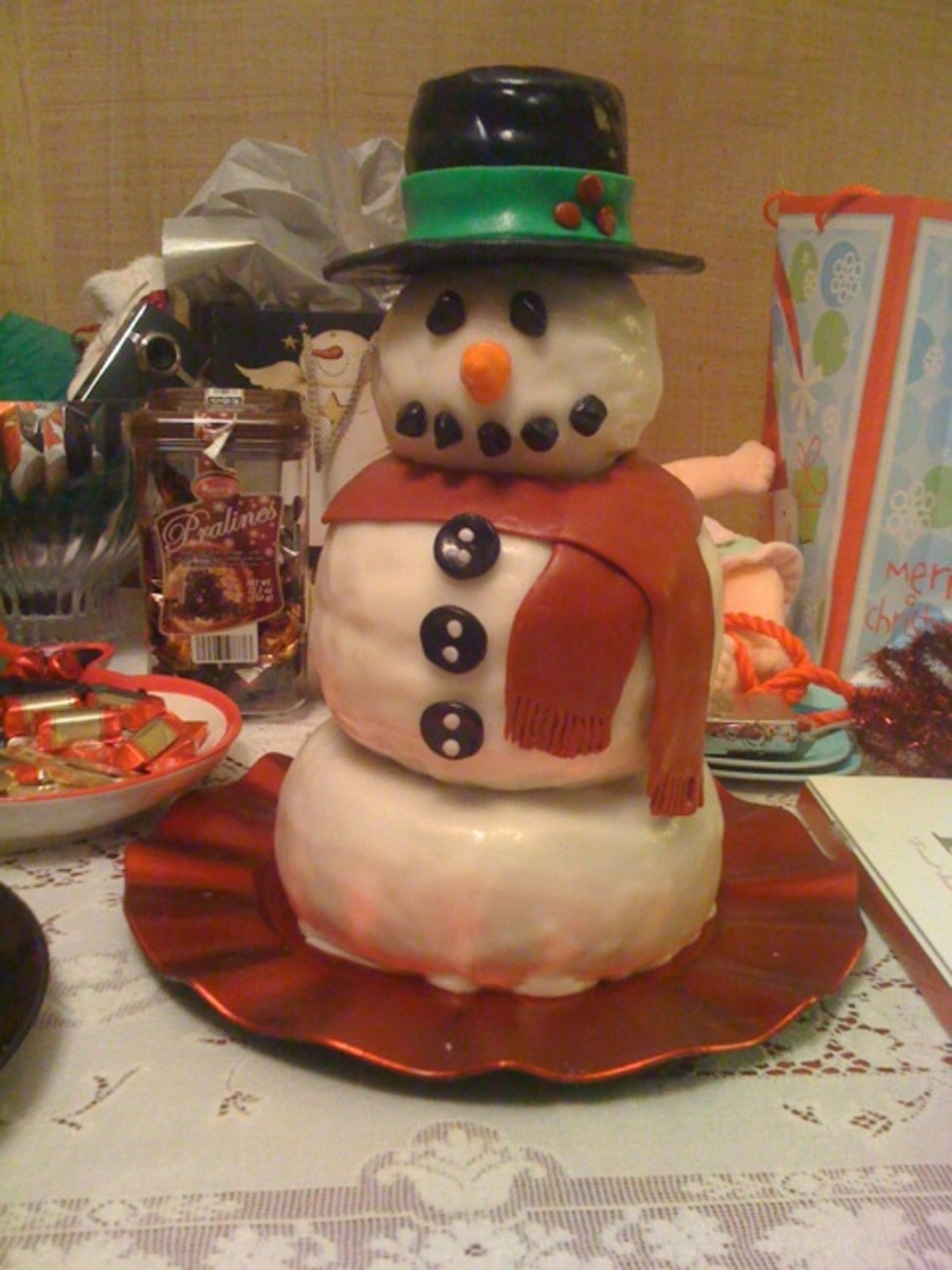 Snowman Cake on Cake Central