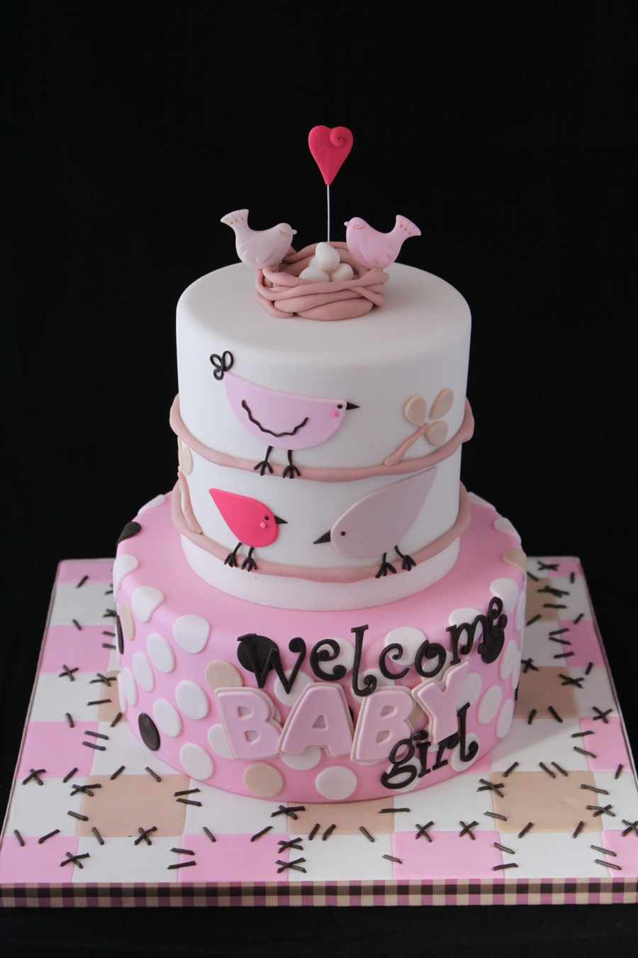 Welcome Baby Girl Cake - CakeCentral.com