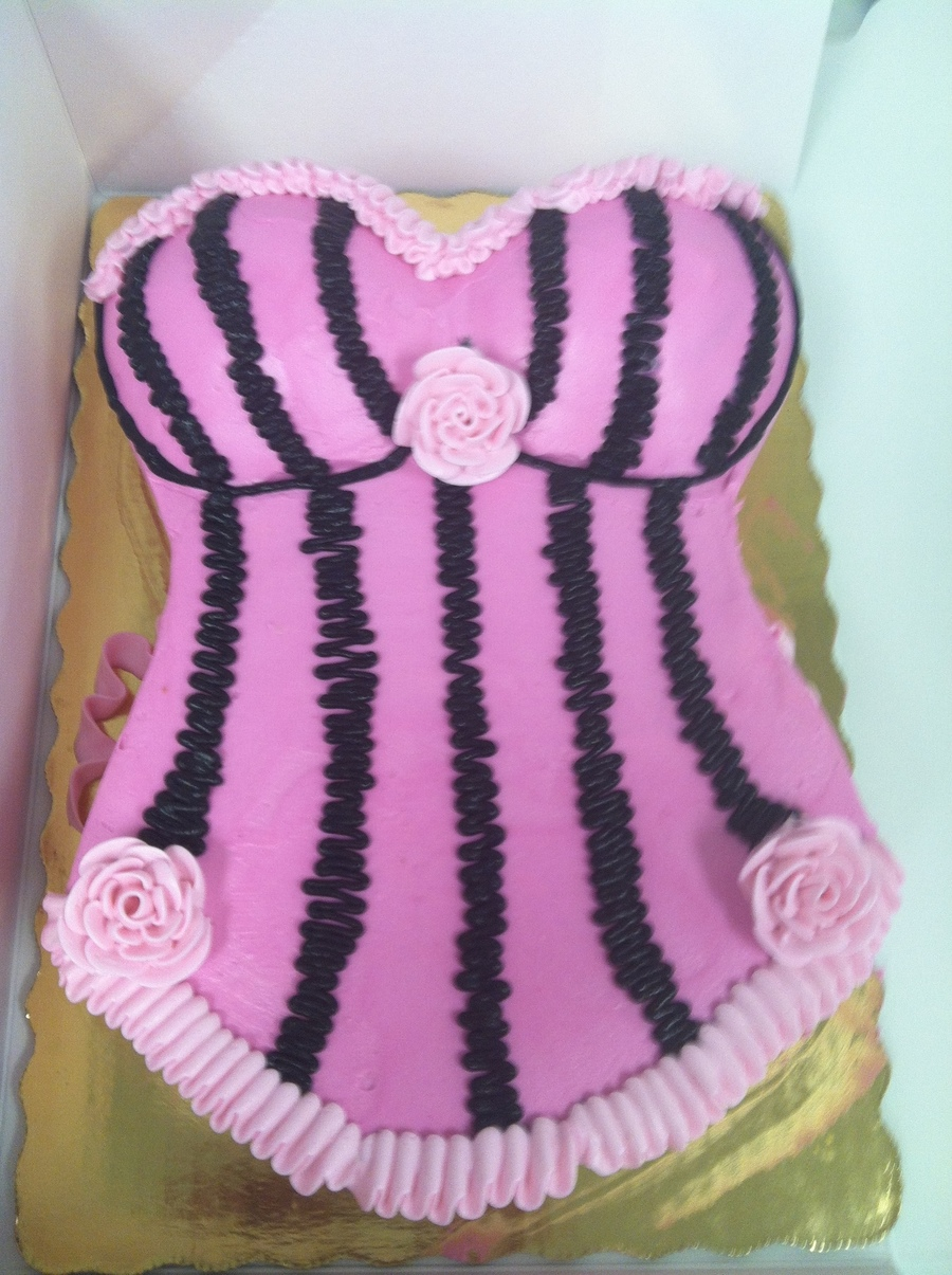 Pink And Black Corset Bridal Shower on Cake Central
