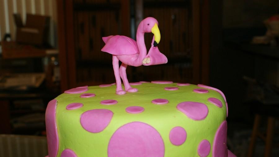Fondant Flamingo Cake Topper