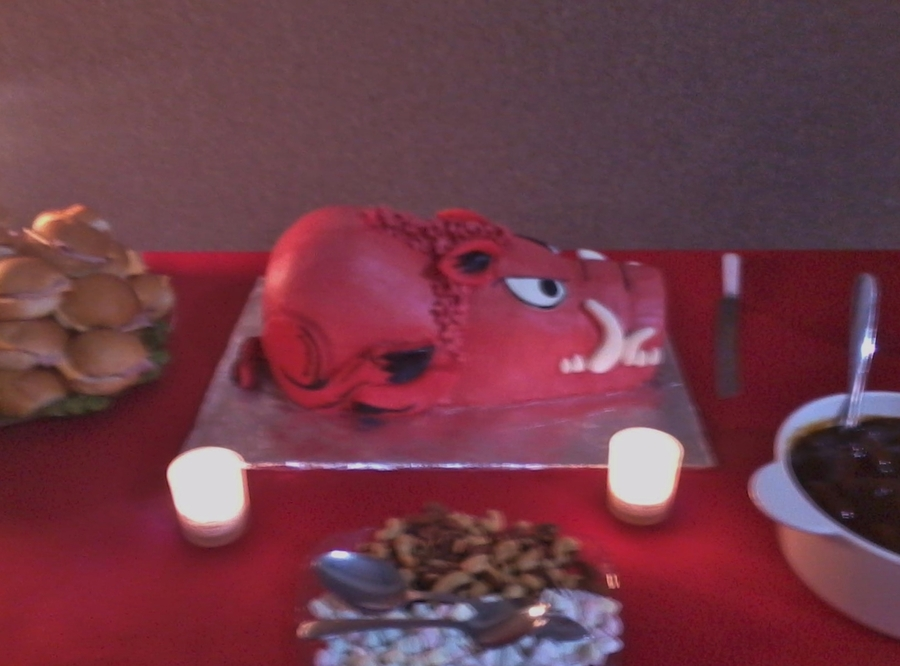 Arkansas Razorback Groom's Cake on Cake Central