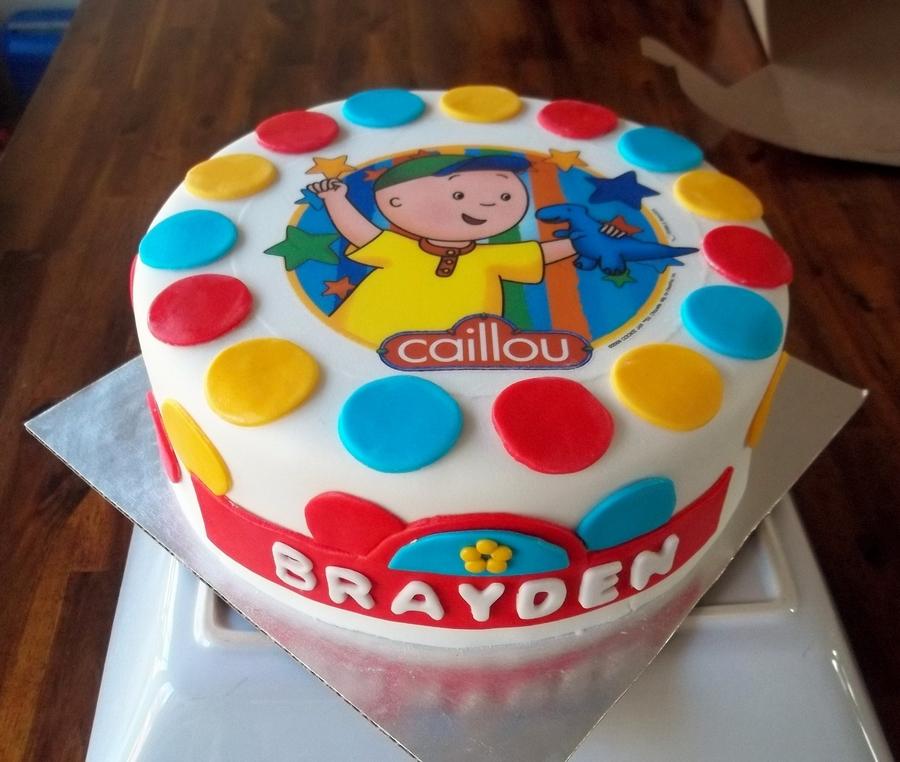 Caillou Birthday Cake CakeCentralcom