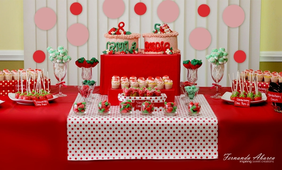strawberry birthday theme