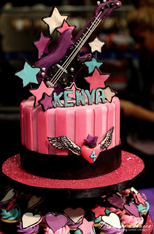 Rock Barbie Birthday Cake