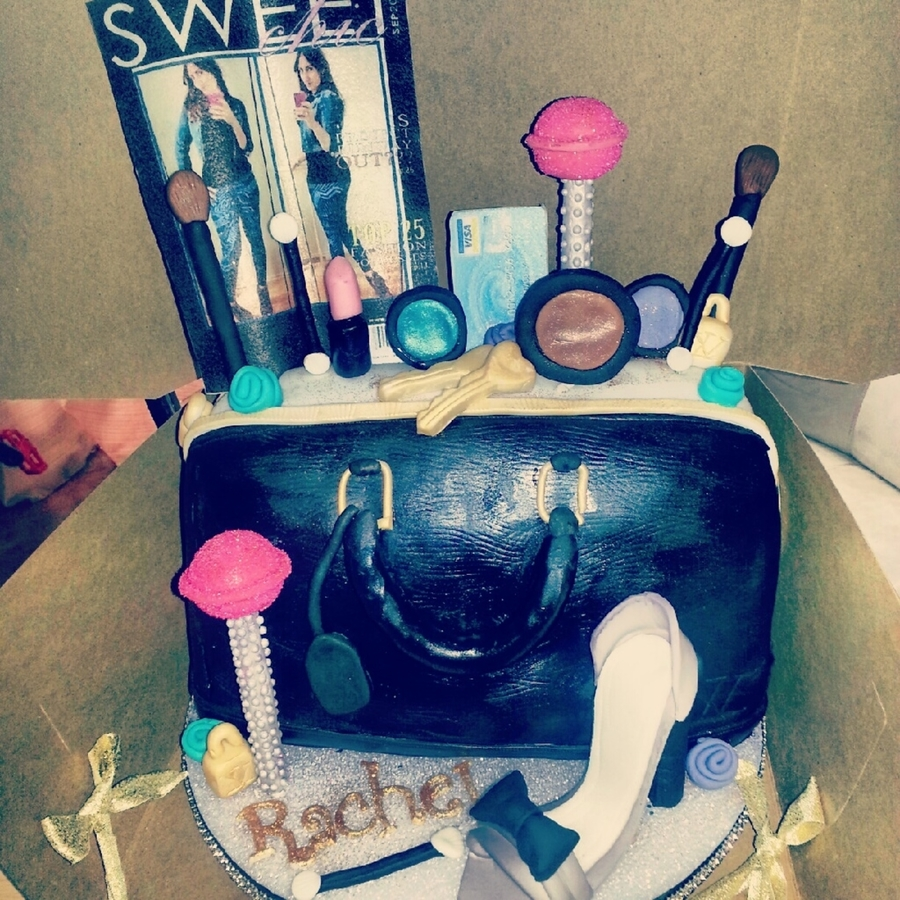 Purse Cosmetics Shoe Cake on Cake Central
