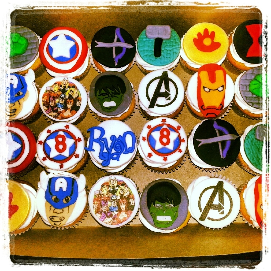 Avengers Cupcakes on Cake Central
