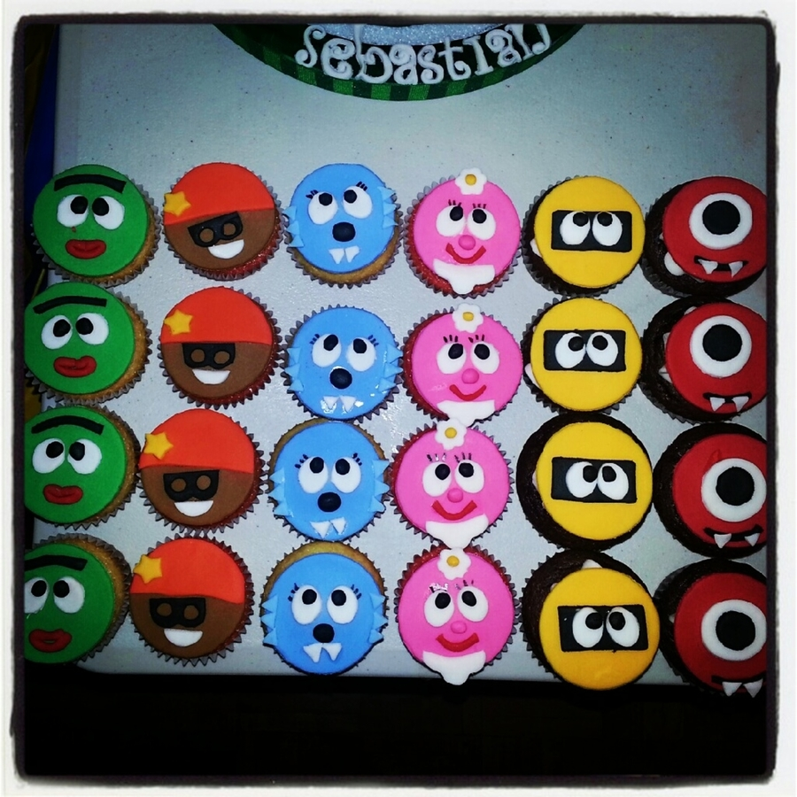 Yo Gabba Gabba Cupcakes on Cake Central