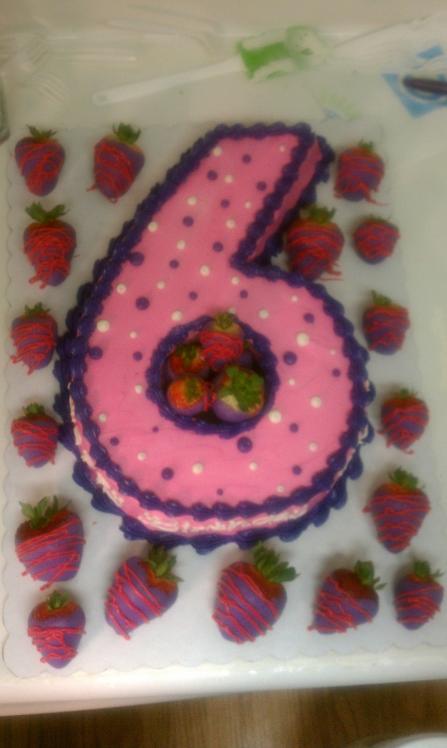 #6 With Strawberries on Cake Central