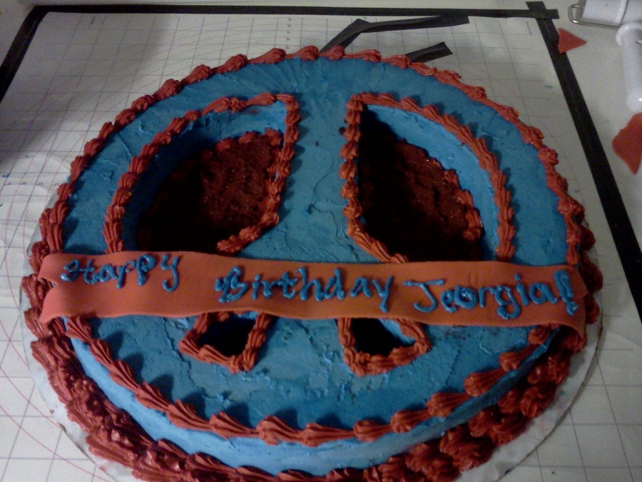 Peace Sign on Cake Central