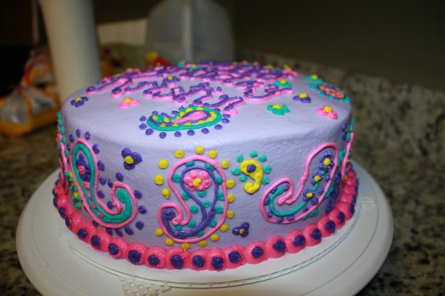 Paisley Birthday Cake - CakeCentral.com