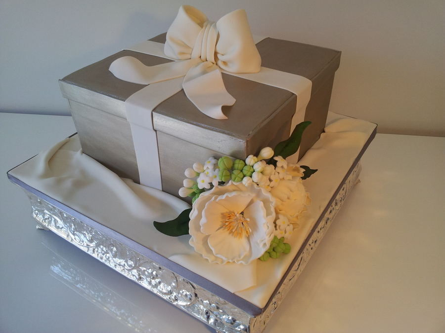 Gift Box Wedding Cake  on Cake Central