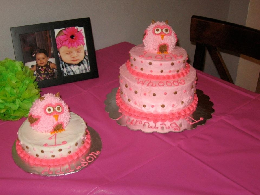 Owl First Birthday Cakes CakeCentralcom