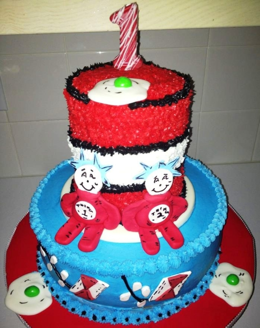 Dr. Suess Birthday Cake on Cake Central