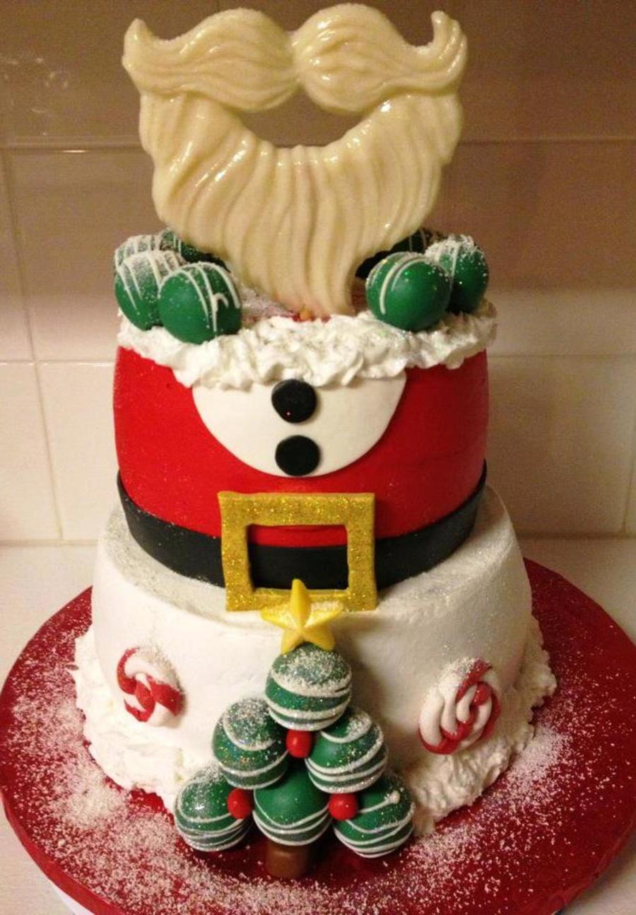 Ho Ho Ho Santa Cake With Cakeballs on Cake Central
