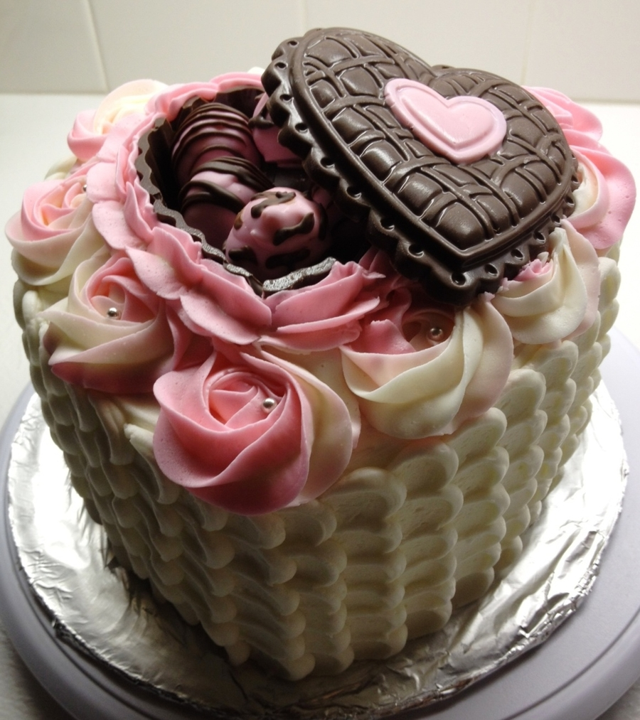 Valentines/birthday Cake - CakeCentral.com