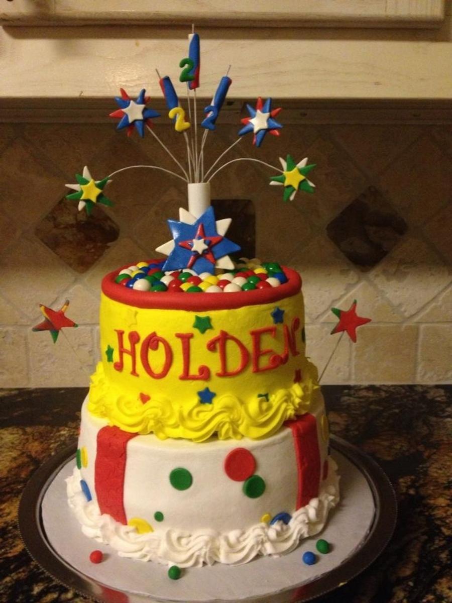 Phenomenal Fireworks Birthday Cake Cakecentral Com Funny Birthday Cards Online Bapapcheapnameinfo