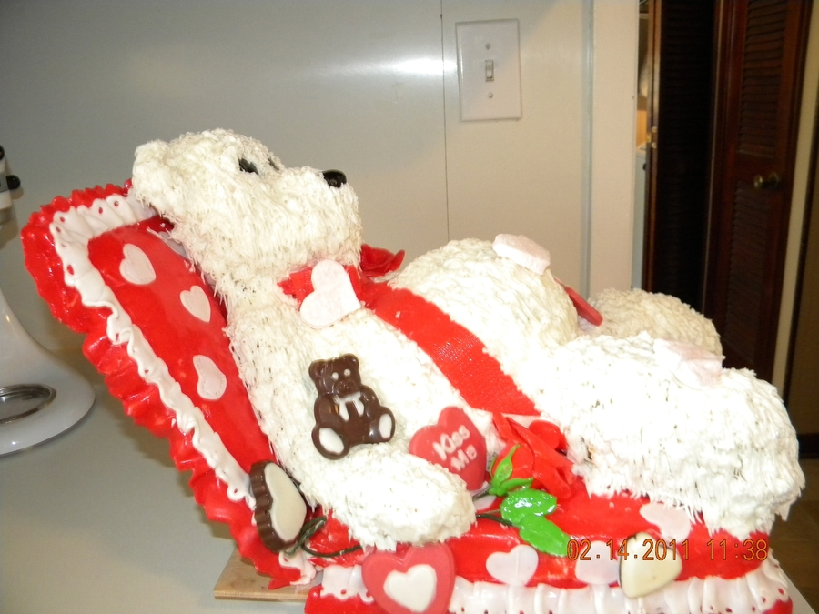 Valentine Teddy on Cake Central