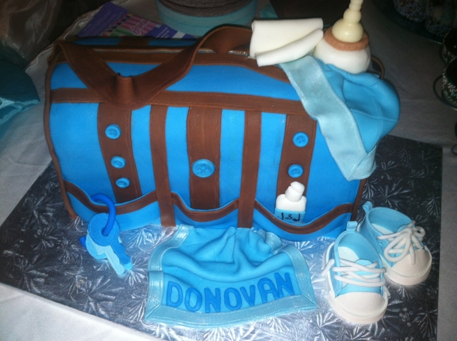 Diaper Bag  on Cake Central