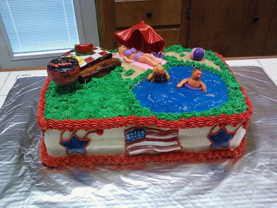 4th Of Julybirthday Party At The Lake Cakecentral