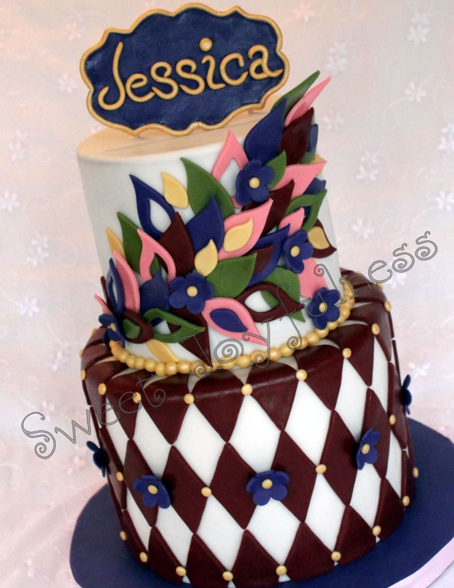 Jewel Tone Birthday Cake - CakeCentral.com
