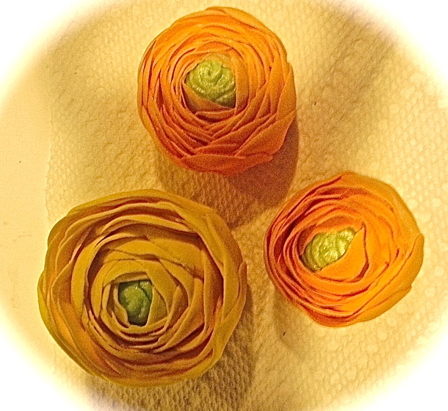 Orange And Yellow Ranunculus on Cake Central