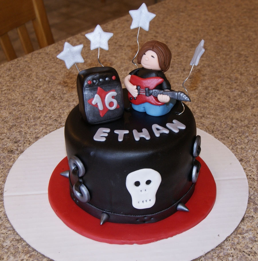 Strange Rock N Roll Cakes For 16 Yrs Old Twins Cakecentral Com Funny Birthday Cards Online Fluifree Goldxyz