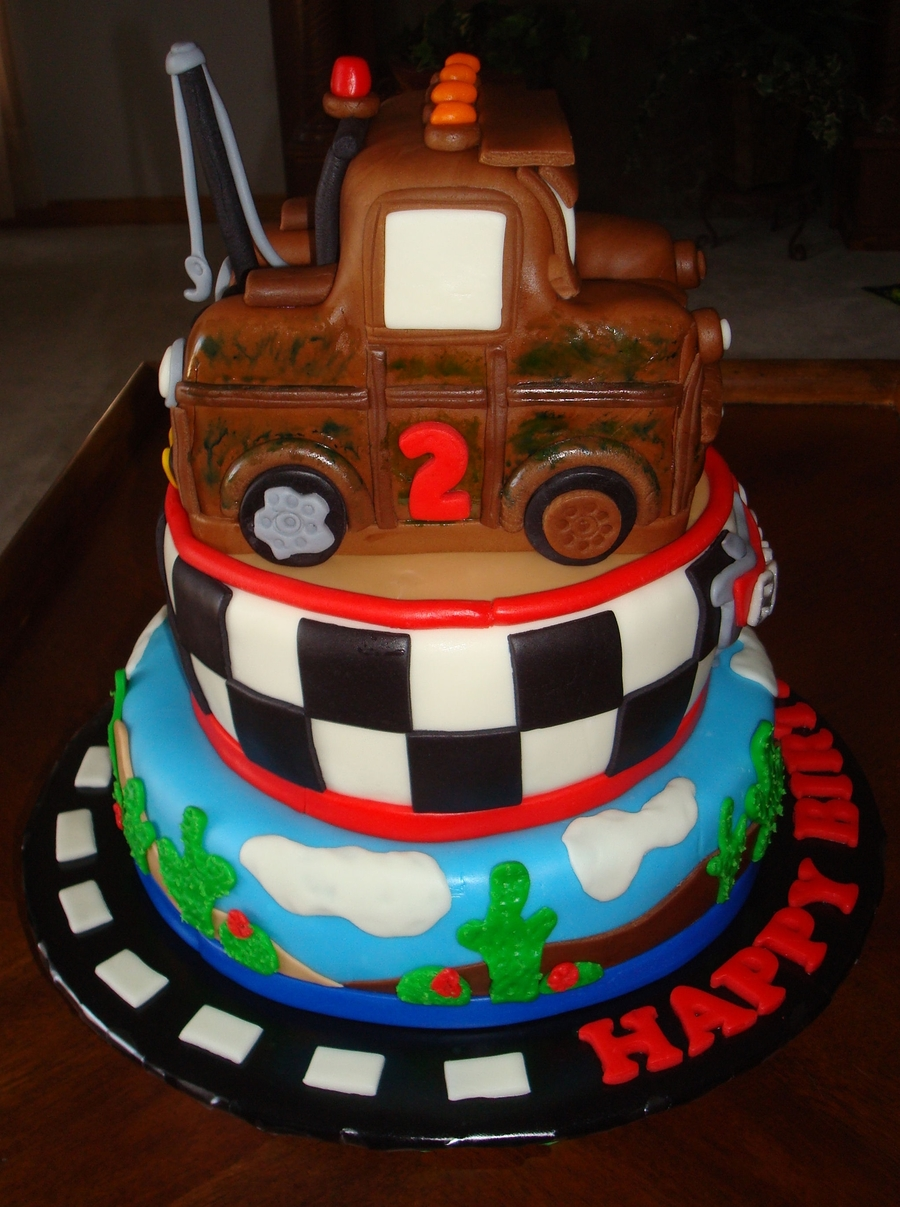 Mater Tow Truck Cakecentral