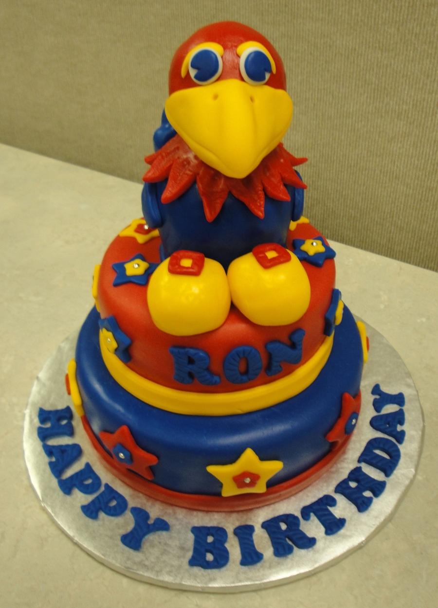 Ku Jayhawk Cake Cakecentral Com