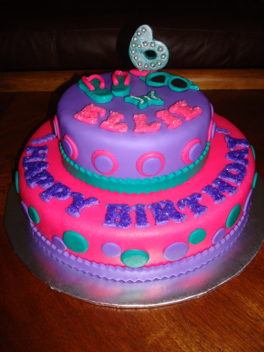 Flip Flops Sunglasses Birthday Cake Cakecentral