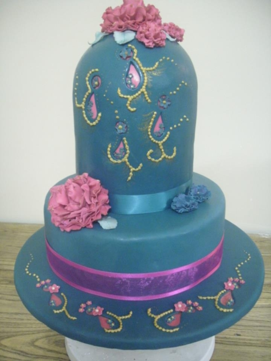 Teal And Hot Pink on Cake Central