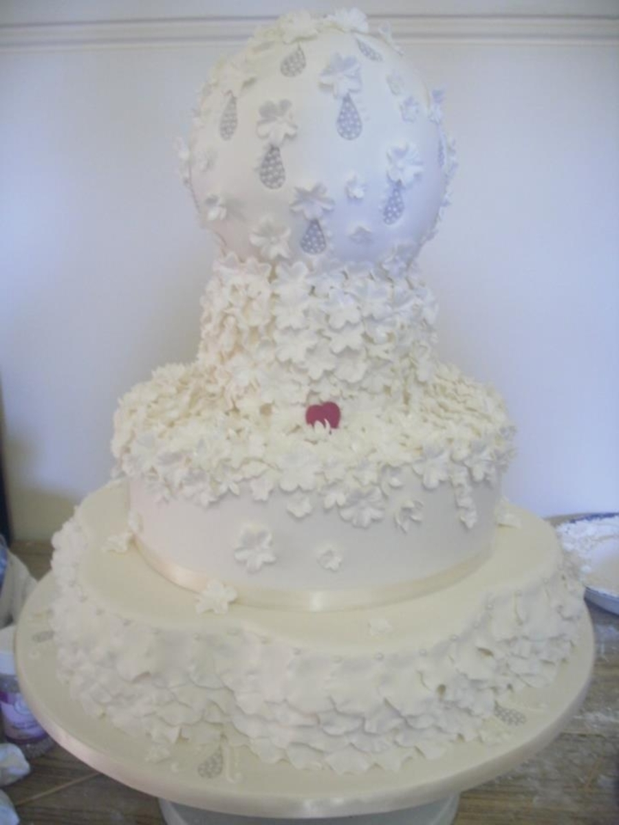 Spring Rain Wedding Cake on Cake Central