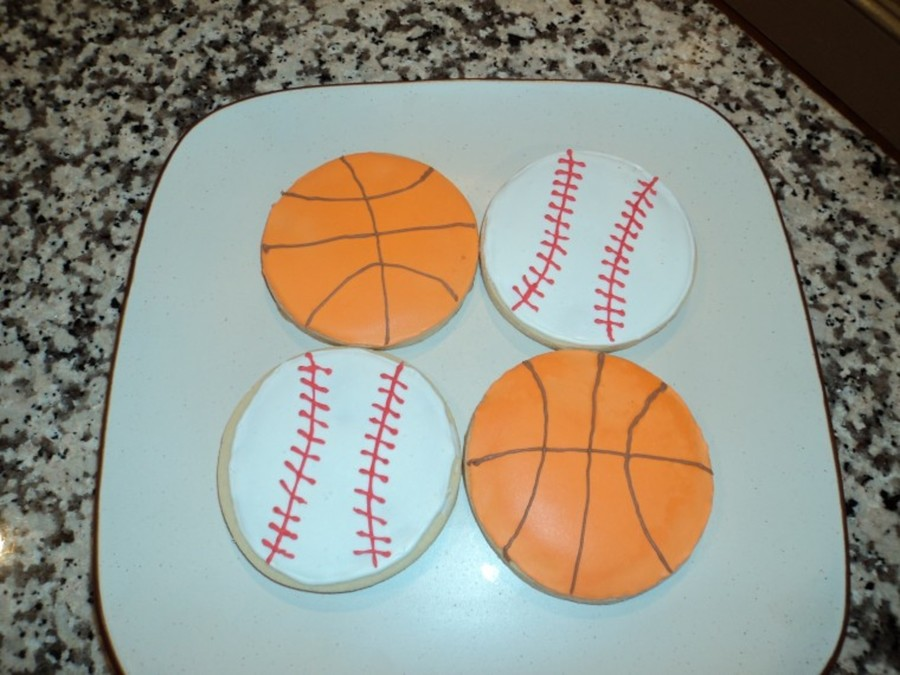 Sports Themed Cookies on Cake Central