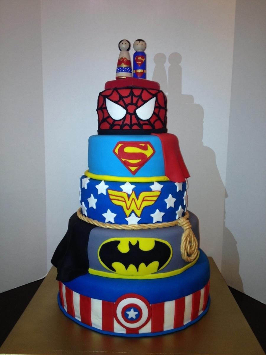 Super Hero Grooms Cake Cakecentral Com