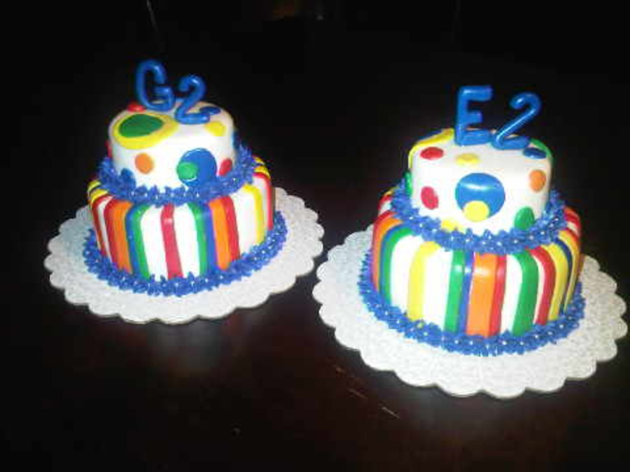 Bright Colors Stripes And Dots Mmf With Bc Flowers Silver Dagrees 6inch 4 Inch Dark Chocolate Cake G E For Their Names 2
