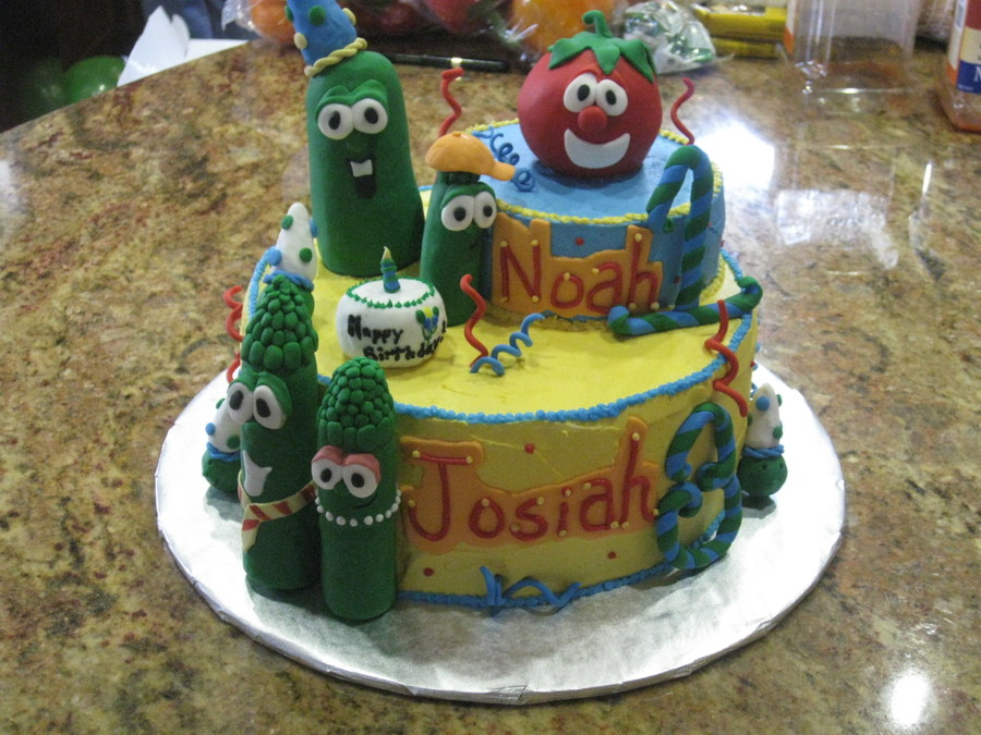 Cool Veggie Tales Birthday Cake Cakecentral Com Funny Birthday Cards Online Alyptdamsfinfo