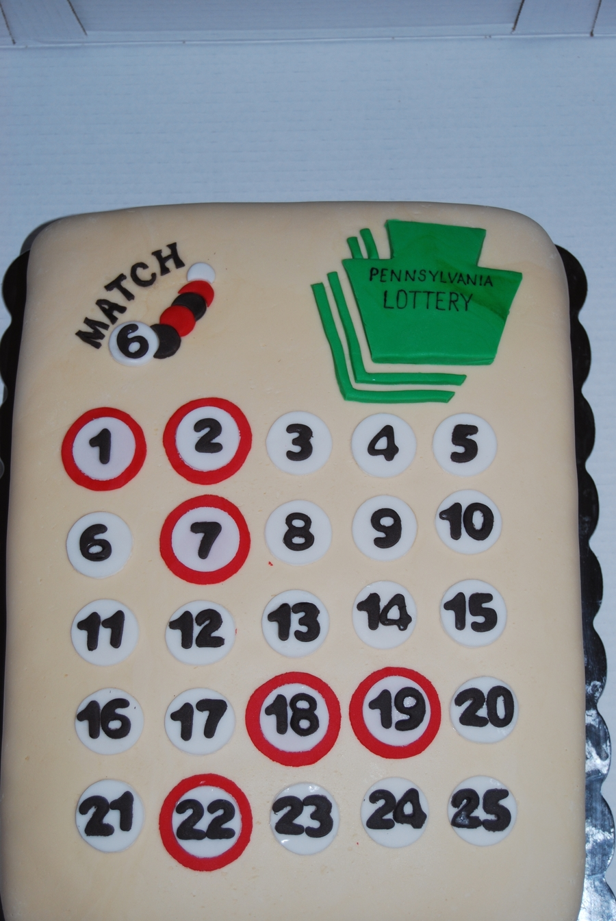 Free Birthday Lottery ~ Pa lottery ticket birthday cake cakecentral