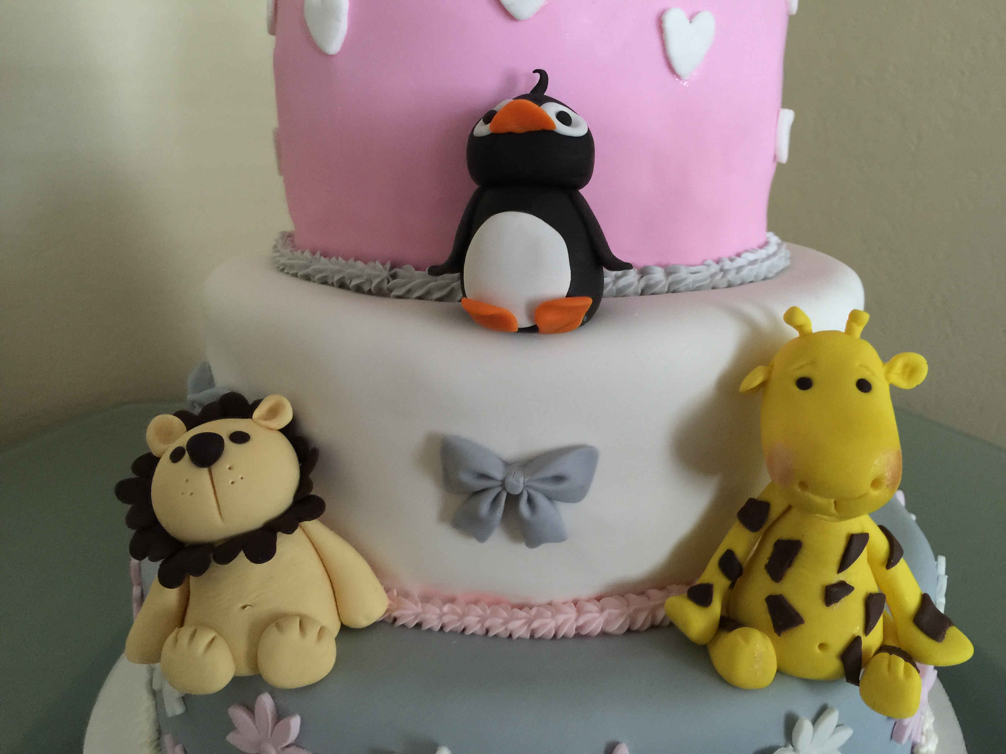 Zoo Themed Baby Shower Cake CakeCentral