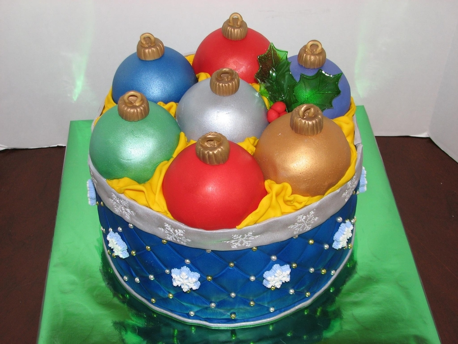 Box Of Ornaments on Cake Central