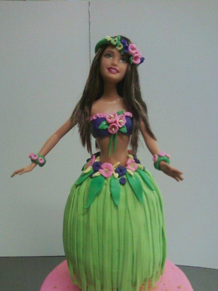 Hawaii Barbie Luau Cakecentral Com