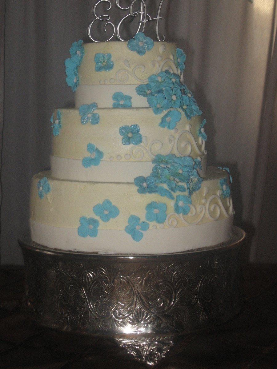 Blue Hydrangea on Cake Central