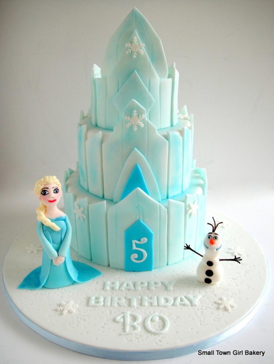 Ice Palace Frozen Cake
