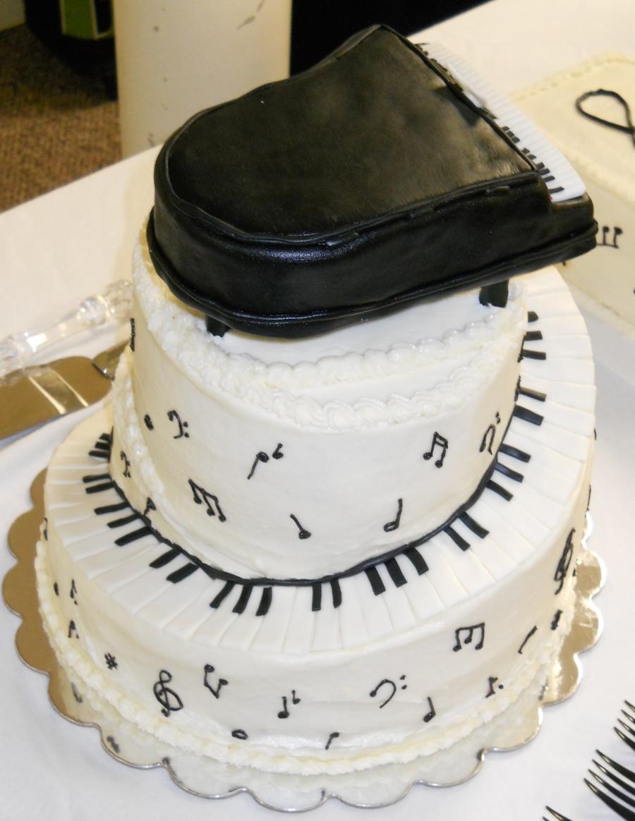 How To Make A Spiral Piano Cake