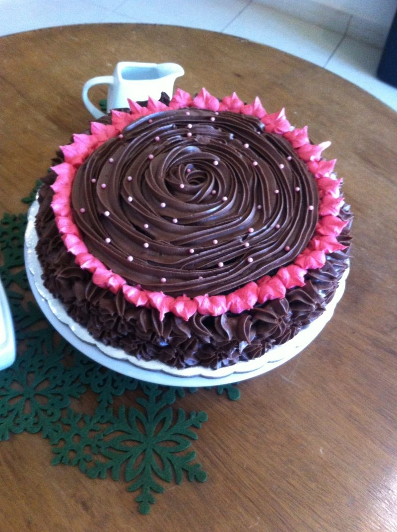 This Is A Chocolate Fudge Cake With Fudge Frosting And Buttercream ...