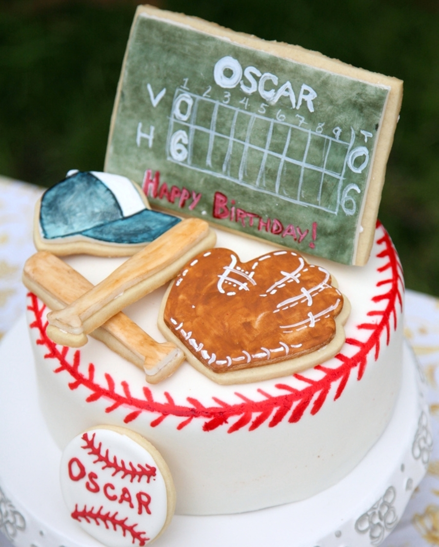 Vintage Baseball Birthday Cake CakeCentralcom