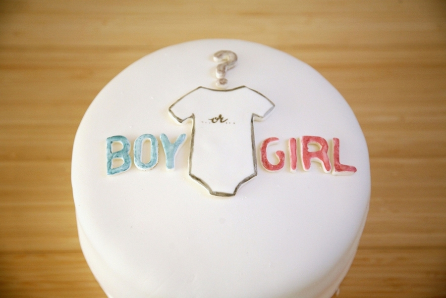 Baby Gender Reveal Cake on Cake Central