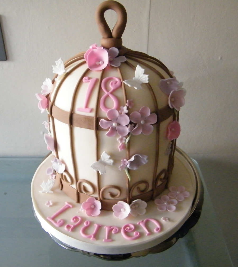 Birdcage For 18Th Birthday  on Cake Central