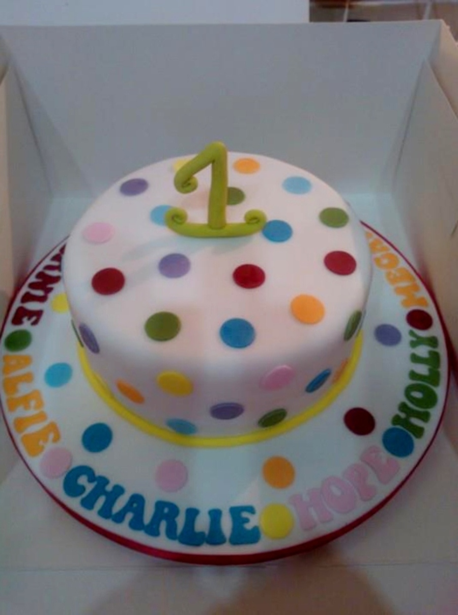 Vanilla Sponge With Jam For A Group Of Nct Babies That Have Just Turned One on Cake Central
