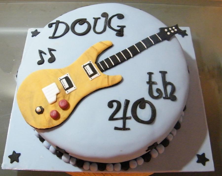 Fabulous 40Th Birthday Guitar Cake Cakecentral Com Personalised Birthday Cards Akebfashionlily Jamesorg